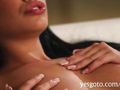 Stunning brunette pornstar Selena Rose fucks and facialed