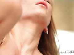 Close-up with hot shaved cunt getting hard fucked