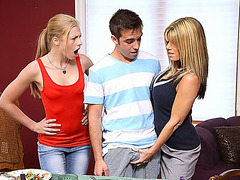 Sexy mature stepmom Kristal Summer has a threesome and swaps cum