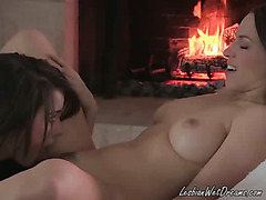 Brunette Fingers And Licks Her Friends Pussy
