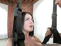 Slutty Girls Get Fucked In Swings