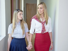 tanya tate seduce her student staci silverstone to have a threesome with her boyfriend