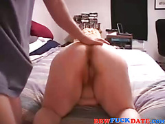 Huge fat amateur gets fucked in the ass
