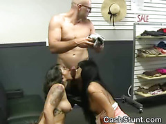 Two Girls Sucking Dick Together In Money Talks Stunt