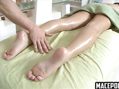 Hot housewife fucked by massagist