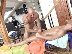 Slutty Masseuse Sucks His Clients Cock