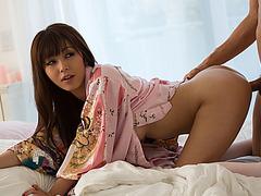 Stunning japanese babe Marika fucked in doggystyle position