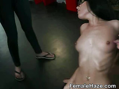 College Girls Slurp Pussy In Group At Hazing Party