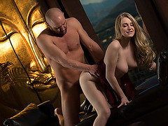 Gorgeous and voluptous babe Stacie Jaxxx intimate couple scenes