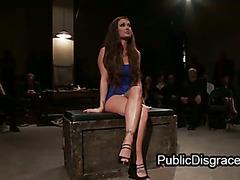 Lesbian bondage and strapon orgy fuck