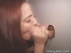 Brunette Sucks Stranger Dry At A Glory Hole