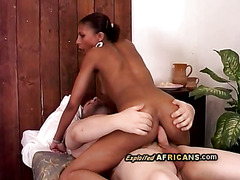 Big ass sista gets her anus pounded by hung white perv