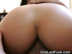 Gorgeous Brunette Ex Girlfriend Riding Dick One Last Time