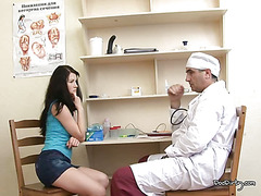 Lina Gets Her Pussy Examined By Male Doctor