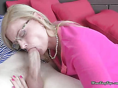 MILF Sucks Teen Cock And Gets Her Pussy Licked