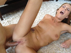 Natural tits gf Alisha Adams anal try out and caught on sextape