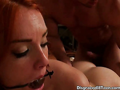 Bound Teen Gets Fucked From Behind And Covered In Cum While Bound