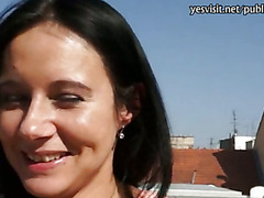 Busty Czech babe Enza banged with a pervert dude for money