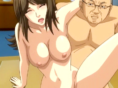 Busty hentai hard fucked with her boss