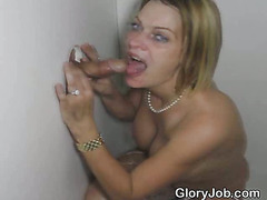 Dirty Blonde Amateur Girl Gets Down At A Glory Hole