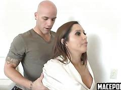Brunette girl massaged then nailed