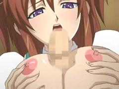 Hentai maid tittyfucking and facial cumshoting