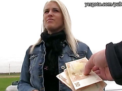 Pretty amateur blondie Czech girl Beata pussy fucked for money