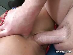 MILF Fucked In Pussy Doggystyle While All Tied Up
