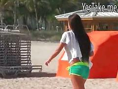 Big ass amateur girlfriend Rahyndee pussy fucked in bikini top