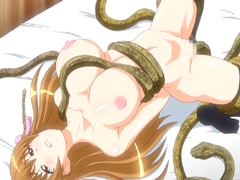 Bigboobs hentai coed gets drilled all hole by snakes