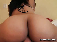 View Of Alanas Ass While Riding Guys Cock