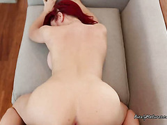 Redhead Drilled In Ass And Pussy