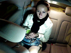 Real raven amateur sucks cock of taxi driver