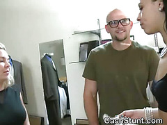 Titty Flashing And Blowjob During Money Talks Stunt