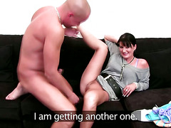 Mature sex agent test her clients cock