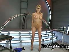 Round big breasts blonde anally fucked