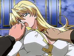 Hentai blondie gets brutally gangbanged