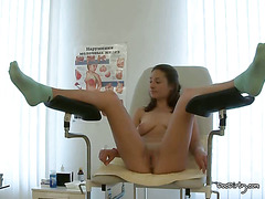 Doctor Examines And Fingers Sharons Pussy