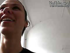 Czech girl Denise Sky picked up in the street and pounded for money