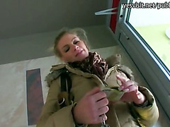 Big boobs amateur blondie Eurobabe Adele pounded for some money