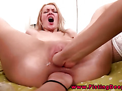 Dp fisting for her pussy and her ass