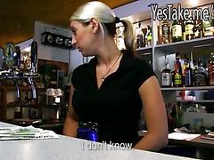 Bartender in Europe Lenka paid for hardcore sex with stranger