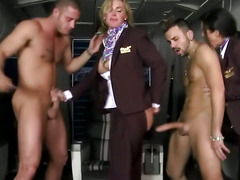 Sexy CFNM mature milf femdom in group fucked
