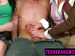 Tempting mature Veronica Avluv sets up threesome with stepdaughter and her bf