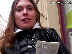 Beautiful amateur Russian girl Irina pounded for some cash