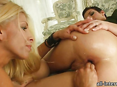 Eliska Cross double penetrated and anal creampied by these two hory guys