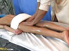 Massage blowjob and hot fucking