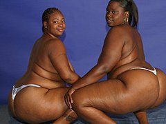 Enormous Black BBWs Browne And Beauty Eat Each Others' Asses