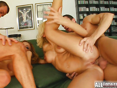 Brittney and Bonnie share this creampie treat