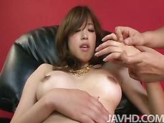 Emiri Senoo cums so hard she wets down her pussy with hot liquid lady juice.